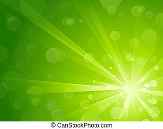 ライト, 光沢がある, 緑, 爆発
