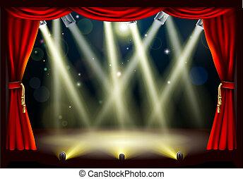 ライト, 劇場, ステージ