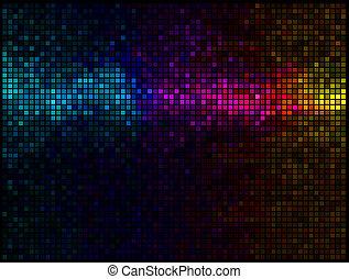 ライト, 多色刷り, 抽象的, 背景, ディスコ