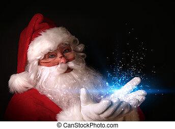 ライト, 手, 魔法, santa, 保有物
