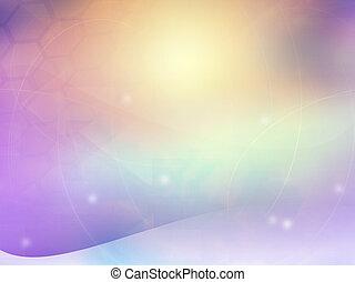 ライト, 抽象的, 涼しい, 背景, 波