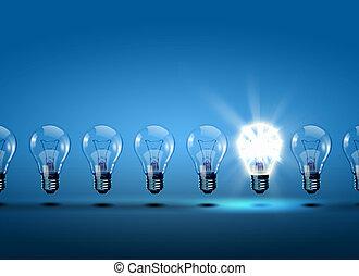 ライト, 横列, 電球