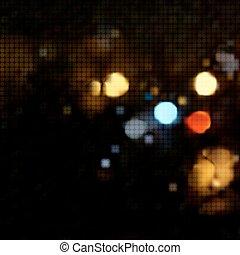 ライト, 背景, 夜