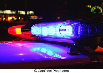 ライト, 警察, 夜