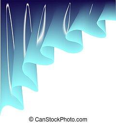 ライト, curtain., 青