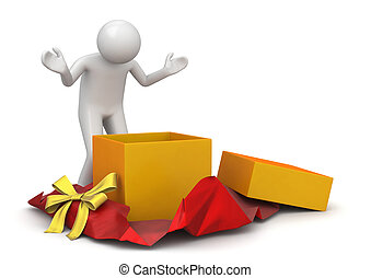 ライフスタイル, -, コレクション, プレゼント, 包みを解くこと