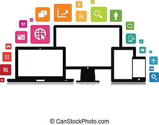 ラップトップ, smartphone, app, タブレット, デスクトップ