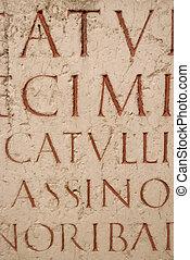 ラテン語, 刻まれた, 原稿, 古代