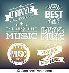ラベル, 音楽
