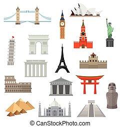 ランドマーク, 建築, ∥あるいは∥, icon., 記念碑