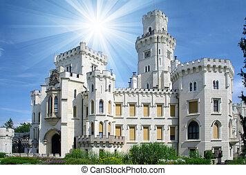 ランドマーク, hluboka, -, 城, 美しい
