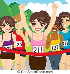 ランナー, 運動選手, 女性, 勝利