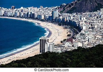 リオ, de, ブラジル, 浜, copacabana, janeiro