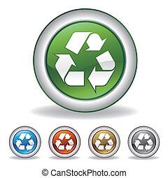 リサイクルしなさい, ベクトル, アイコン
