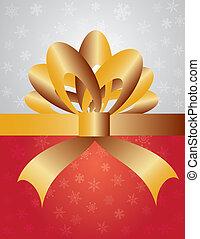 リボン, 包むこと, クリスマスの ギフト, 弓