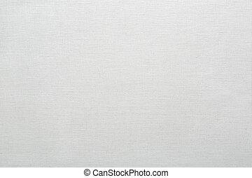 リンネル, キャンバス, 手ざわり, 白い背景
