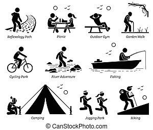 レクリエーションである, ライフスタイル, 屋外の レクリエーション, activities.