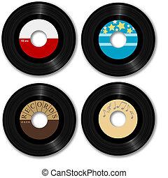 レコード, 45 rpm, レトロ