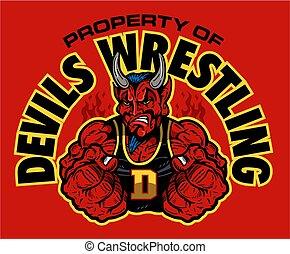 レスリング, 悪魔