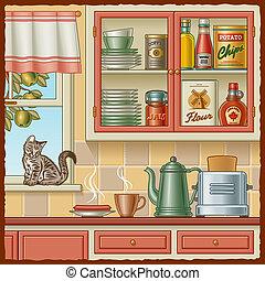 レトロ, 台所
