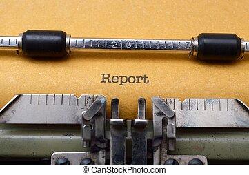 レポート, タイプライター