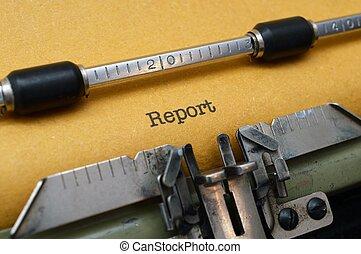レポート, テキスト, タイプライター