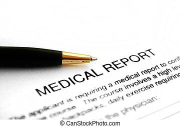 レポート, 医学