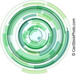レンズ, 3d, シンボル, 円, 抽象的なデザイン, 技術