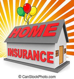 レンダリング, 家の 保険, 意味, 損害保障, ハウジング, 3d