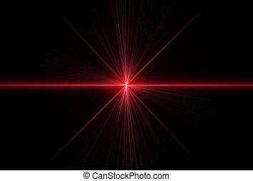 レーザー, 光線