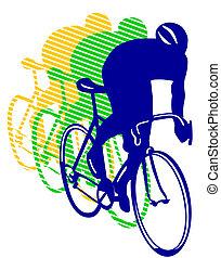 レースの自転車