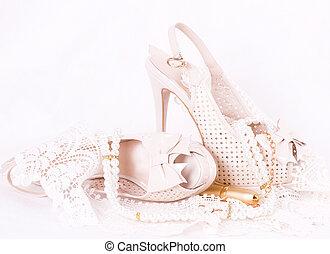 レース, 靴, bridal, 美しい