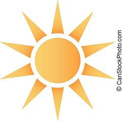 ロゴ, すてきである, 太陽