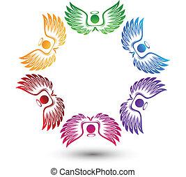 ロゴ, のまわり, 天使