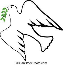 ロゴ, シンボル, 鳥, 神の霊