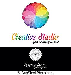 ロゴ, スタジオ, テンプレート, 創造的