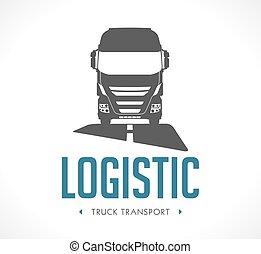 ロゴ, -, トラック, ロジスティックである