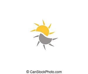 ロゴ, ベクトル, 太陽, アイコン