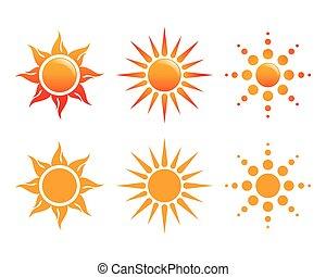 ロゴ, 太陽, ベクトル, アイコン