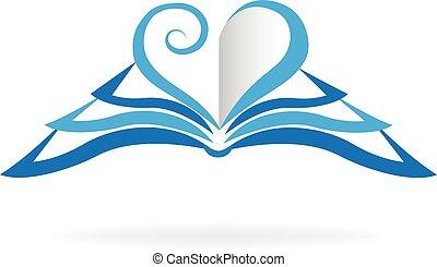 ロゴ, 形, 本, 愛