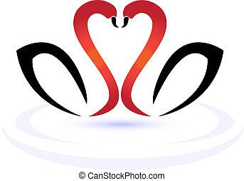 ロゴ, 愛, 白鳥