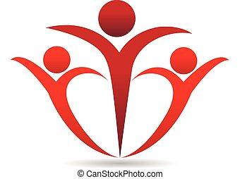 ロゴ, 抱擁, 人々