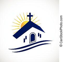 ロゴ, 教会, 太陽