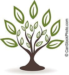 ロゴ, 木, 緑