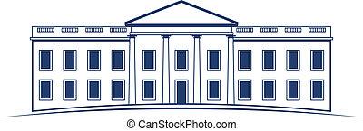 ロゴ, 白, ベクトル, 家
