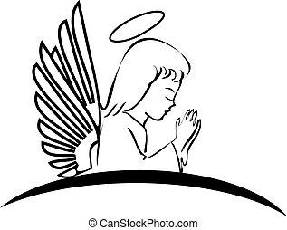 ロゴ, 祈ること, 天使, 創造的
