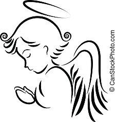 ロゴ, 祈ること, 天使