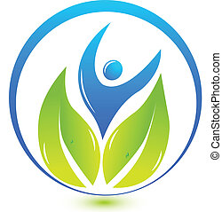 ロゴ, 自然, 健康, 人々