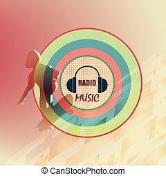 ロゴ, 音楽, ラジオ