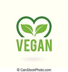 ロゴ, vegan, アイコン, 食品。, bio, badges., 有機体である, エコロジー